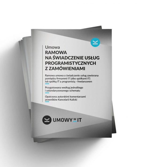 Umowa ramowa na świadczenie usług programistycznych z zamówieniami